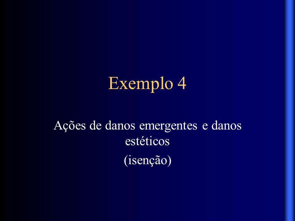 Exemplo 4 Ações de danos emergentes e danos estéticos (isenção)