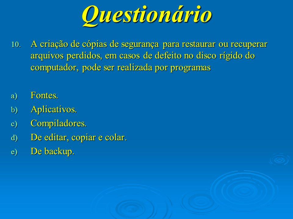 Questionário 11.