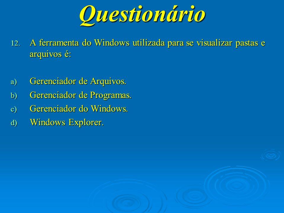 Questionário 13.