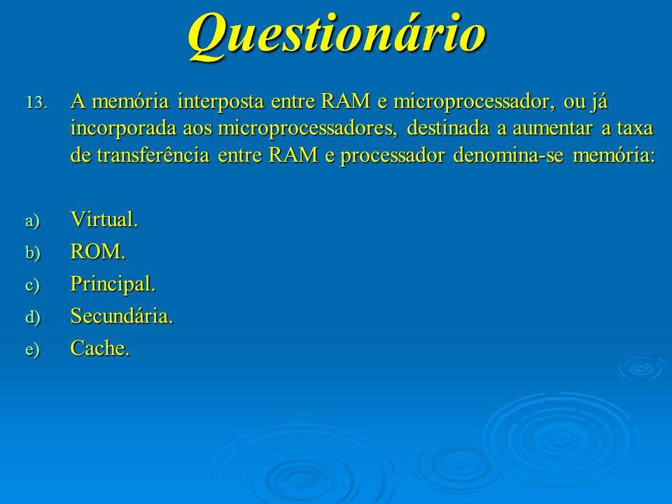 Questionário 14.