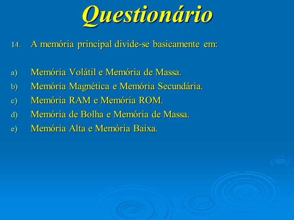 Questionário 15.