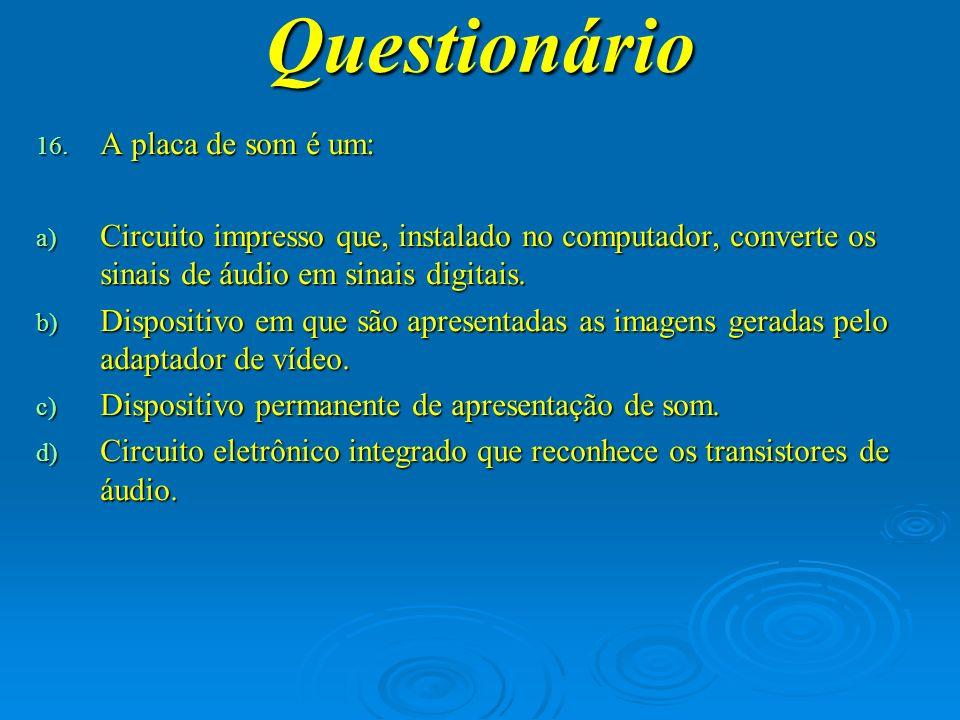 Questionário 17.
