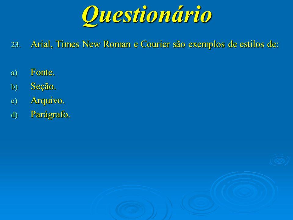 Questionário 24.
