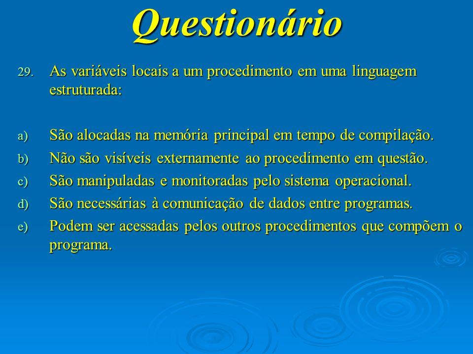 Questionário 30.