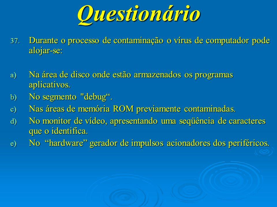 Questionário 38.Em qual pasta do menu Programas se encontra a Calculadora.
