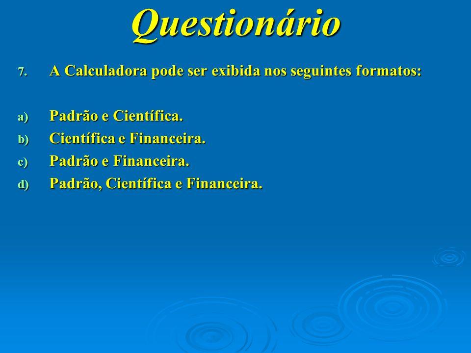 Questionário 8.