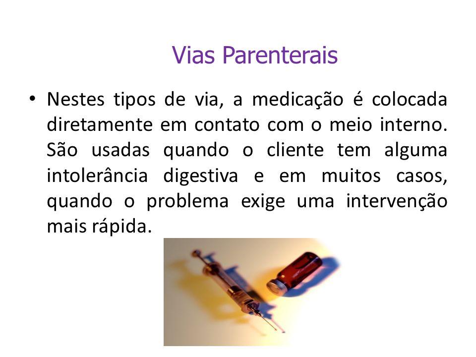 Intradérmica Subcutânea Intramuscular Endovenosa ou Intravenosa
