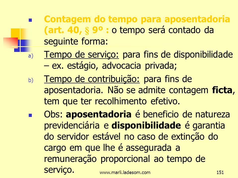 www.marli.ladesom.com151 Contagem do tempo para aposentadoria (art.