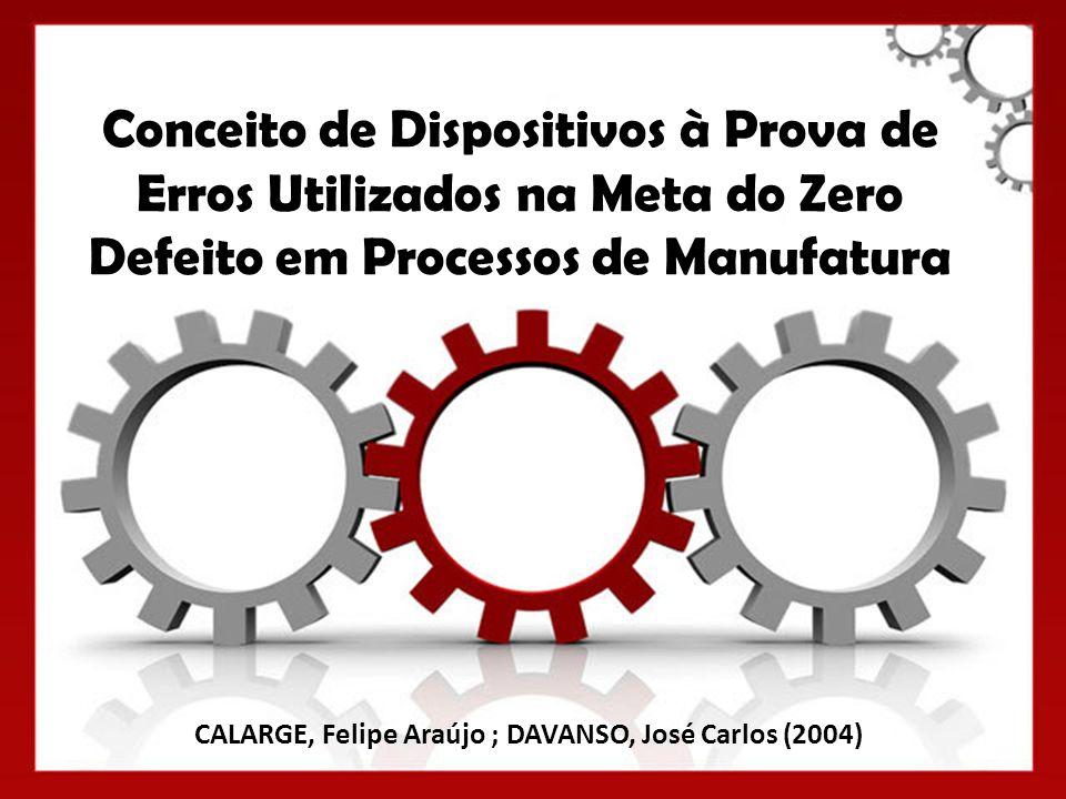 Conceito de Dispositivos à Prova de Erros Utilizados na Meta do Zero Defeito em Processos de Manufatura CALARGE, Felipe Araújo ; DAVANSO, José Carlos