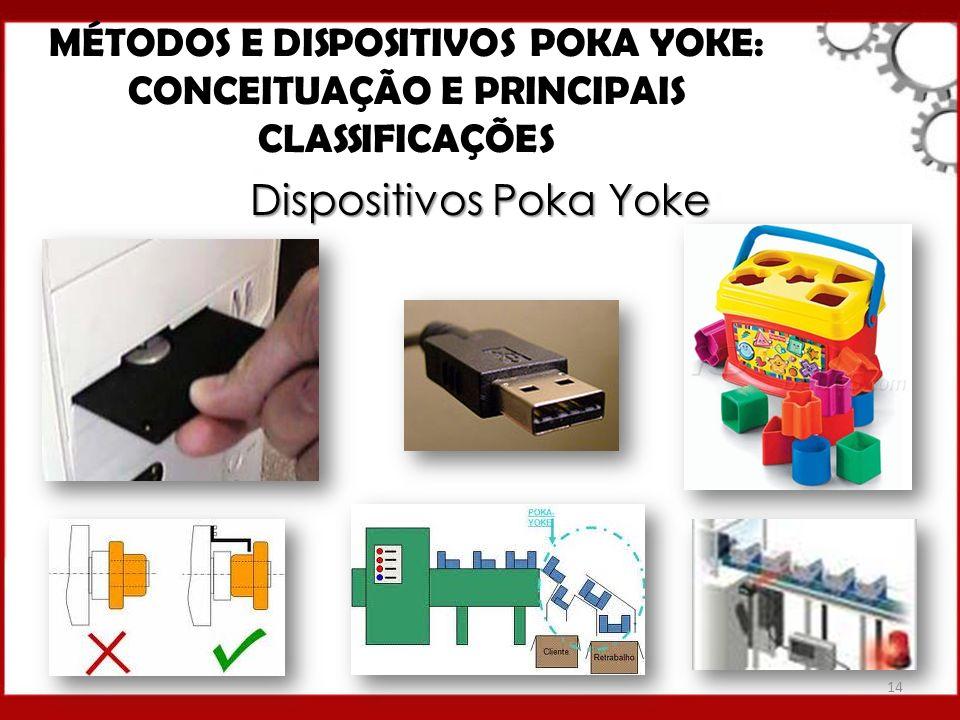 Dispositivos Poka Yoke MÉTODOS E DISPOSITIVOS POKA YOKE: CONCEITUAÇÃO E PRINCIPAIS CLASSIFICAÇÕES 14