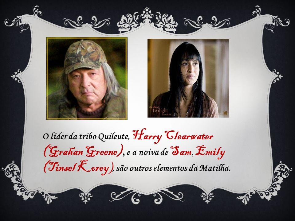 O líder da tribo Quileute, Harry Clearwater (Grahan Greene), e a noiva de Sam, Emily (Tinsel Korey ), são outros elementos da Matilha.