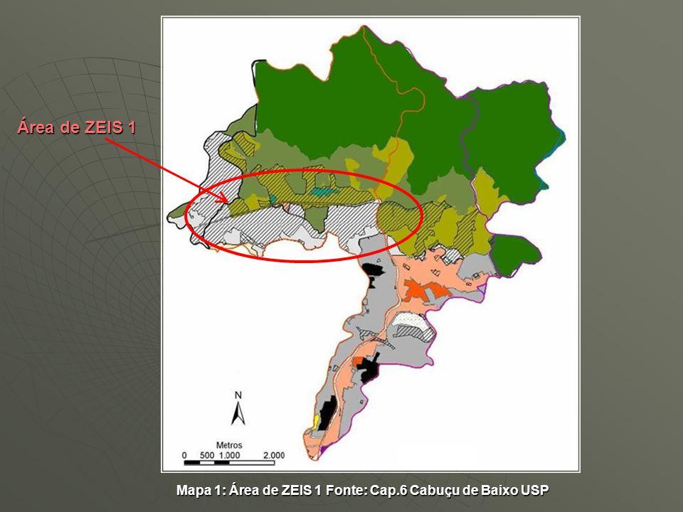 Área de ZEIS 1 Mapa 1: Área de ZEIS 1 Fonte: Cap.6 Cabuçu de Baixo USP