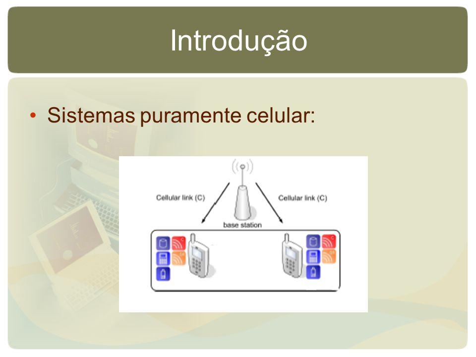 Introdução Sistemas puramente celular:
