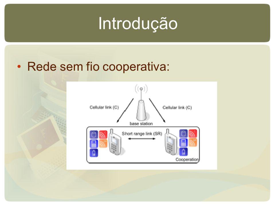 Introdução Rede sem fio cooperativa: