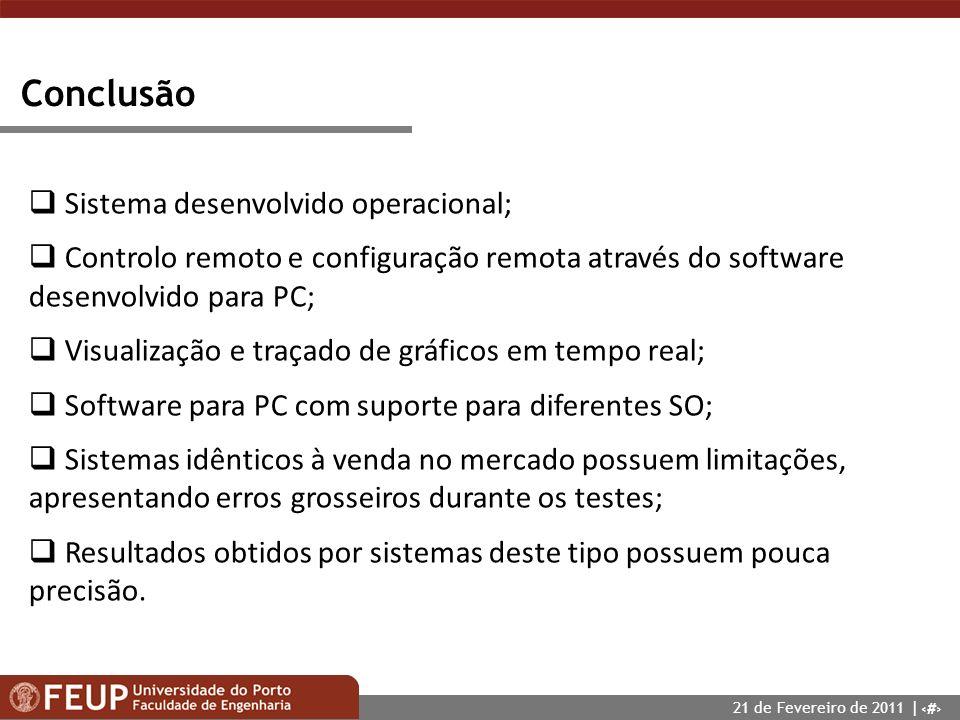 24 Conclusão Sistema desenvolvido operacional; Controlo remoto e configuração remota através do software desenvolvido para PC; Visualização e traçado