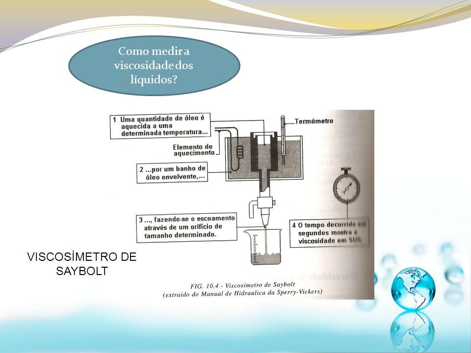 Como medir a viscosidade dos líquidos? VISCOSÍMETRO DE SAYBOLT