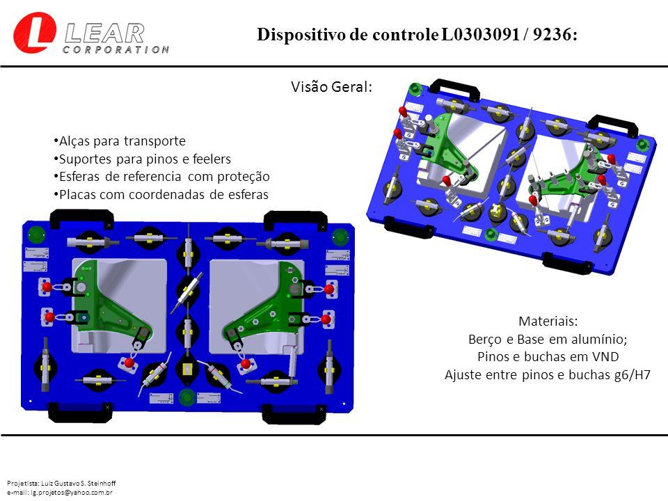 Projetista: Luiz Gustavo S. Steinhoff e-mail: lg.projetos@yahoo.com.br Dispositivo de controle L0303091 / 9236: Visão Geral: Materiais: Berço e Base e