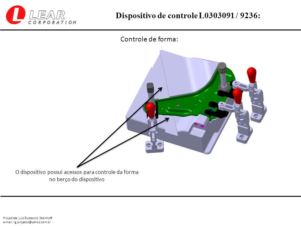 Projetista: Luiz Gustavo S. Steinhoff e-mail: lg.projetos@yahoo.com.br Dispositivo de controle L0303091 / 9236: Controle de forma: O dispositivo possu