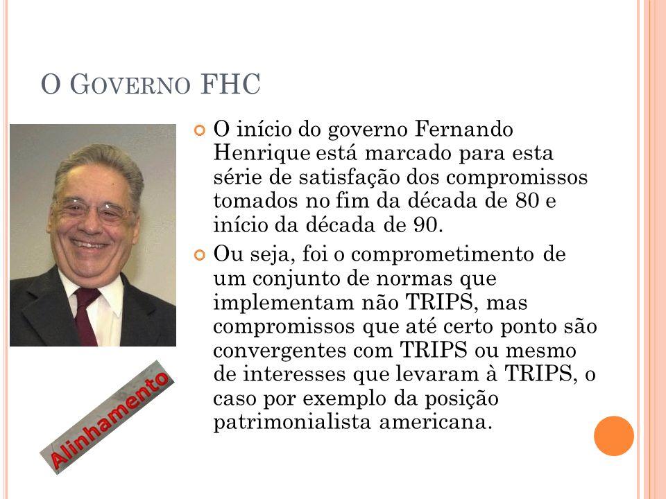 O G OVERNO FHC O início do governo Fernando Henrique está marcado para esta série de satisfação dos compromissos tomados no fim da década de 80 e início da década de 90.