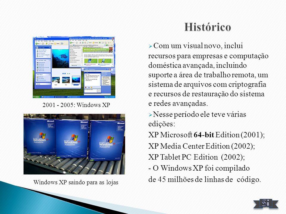 Com um visual novo, inclui recursos para empresas e computação doméstica avançada, incluindo suporte a área de trabalho remota, um sistema de arquivos