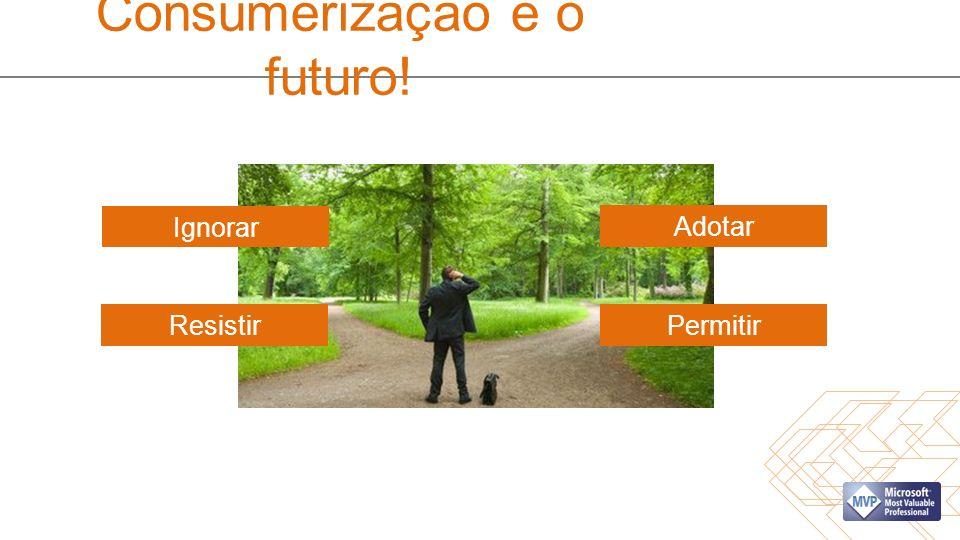 Consumerização é o futuro! Ignorar ResistirPermitir Adotar