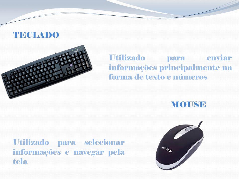 MONITOR É o dispositivo que envia informações na forma de imagens para o usuário É o dispositivo que envia informações na forma de sons para o usuário CAIXAS DE SOM