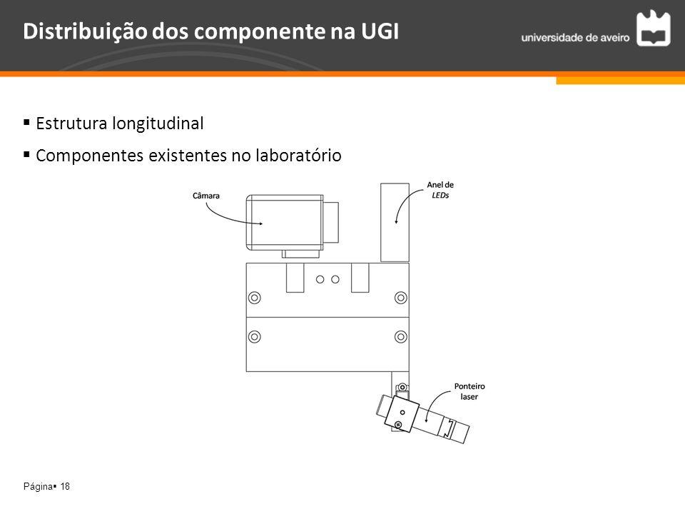Página 18 Distribuição dos componente na UGI Estrutura longitudinal Componentes existentes no laboratório