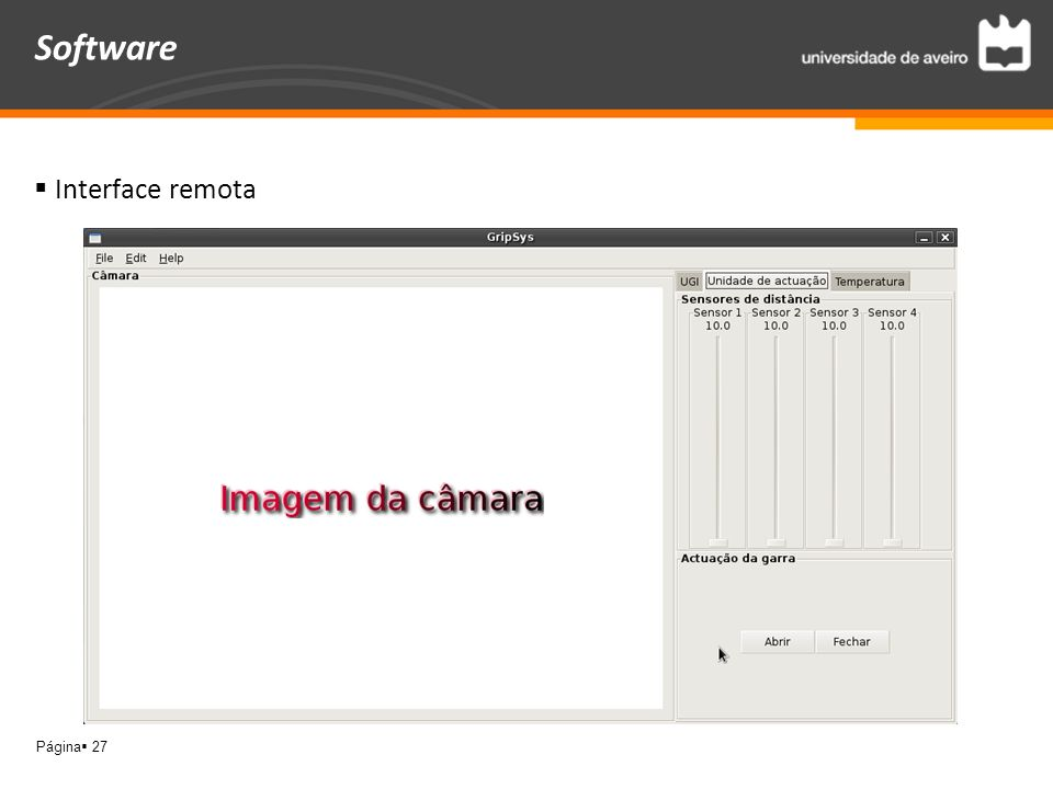Página 27 Software Interface remota