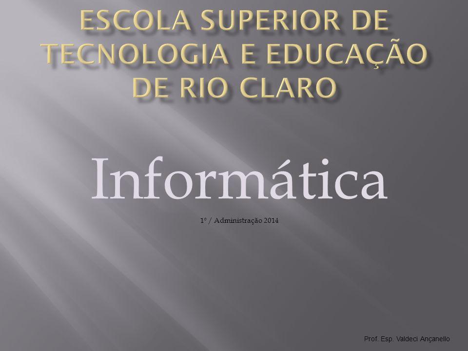 Prof.Esp. Valdeci Ançanello O que é Informática.