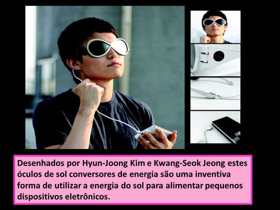 Desenhados por Hyun-Joong Kim e Kwang-Seok Jeong estes óculos de sol conversores de energia são uma inventiva forma de utilizar a energia do sol para
