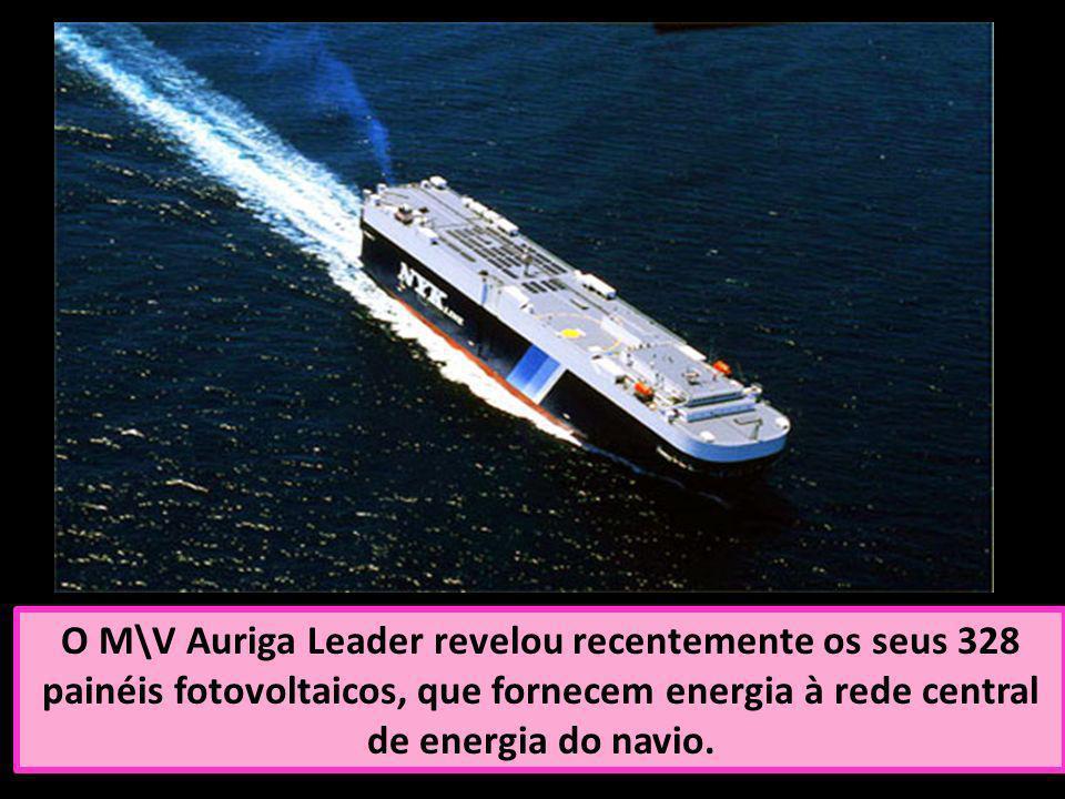 O M\V Auriga Leader revelou recentemente os seus 328 painéis fotovoltaicos, que fornecem energia à rede central de energia do navio.