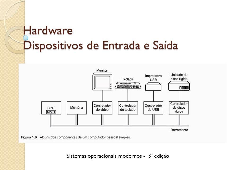 Hardware Dispositivos de Entrada e Saída Sistemas operacionais modernos - 3ª edição