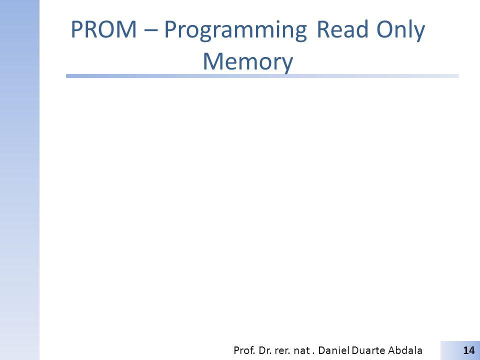 PROM – Programming Read Only Memory Prof. Dr. rer. nat. Daniel Duarte Abdala14