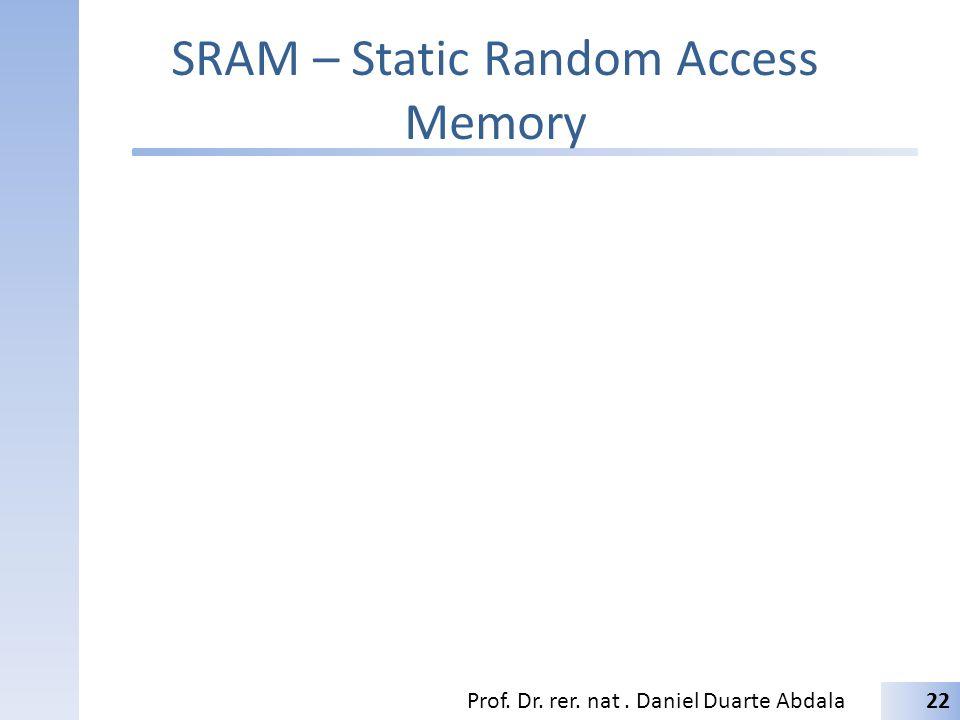 SRAM – Static Random Access Memory Prof. Dr. rer. nat. Daniel Duarte Abdala22