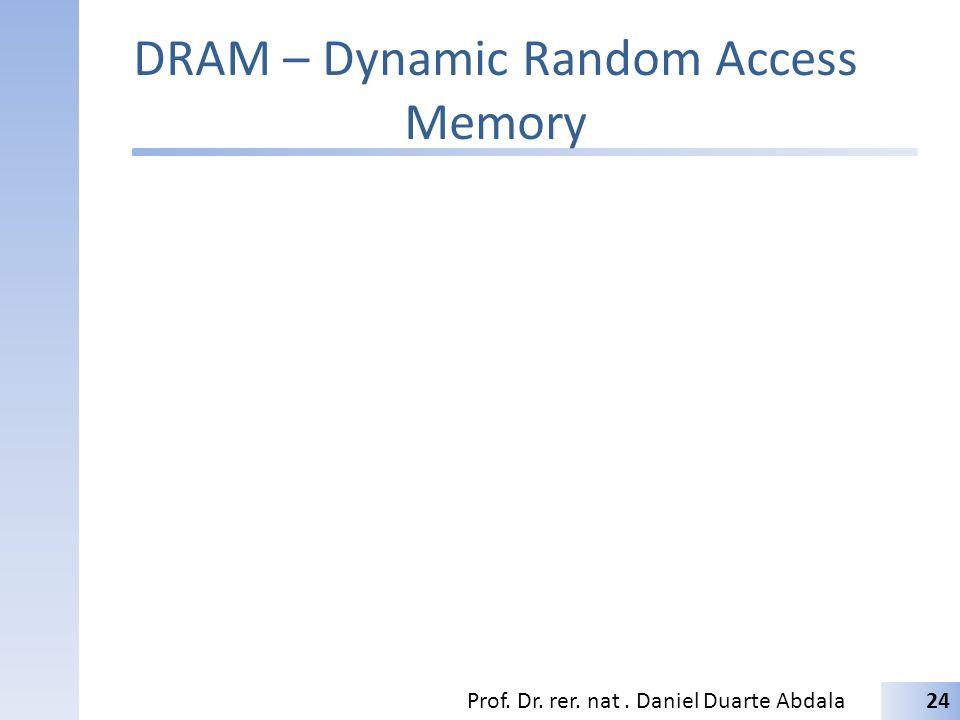 DRAM – Dynamic Random Access Memory Prof. Dr. rer. nat. Daniel Duarte Abdala24