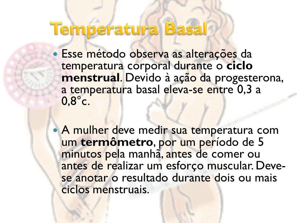 Esse método observa as alterações da temperatura corporal durante o ciclo menstrual.