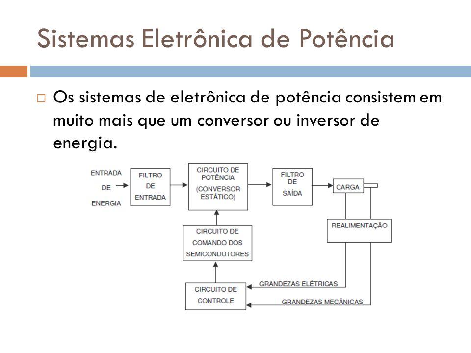 Sistemas Eletrônica de Potência Os sistemas de eletrônica de potência consistem em muito mais que um conversor ou inversor de energia.