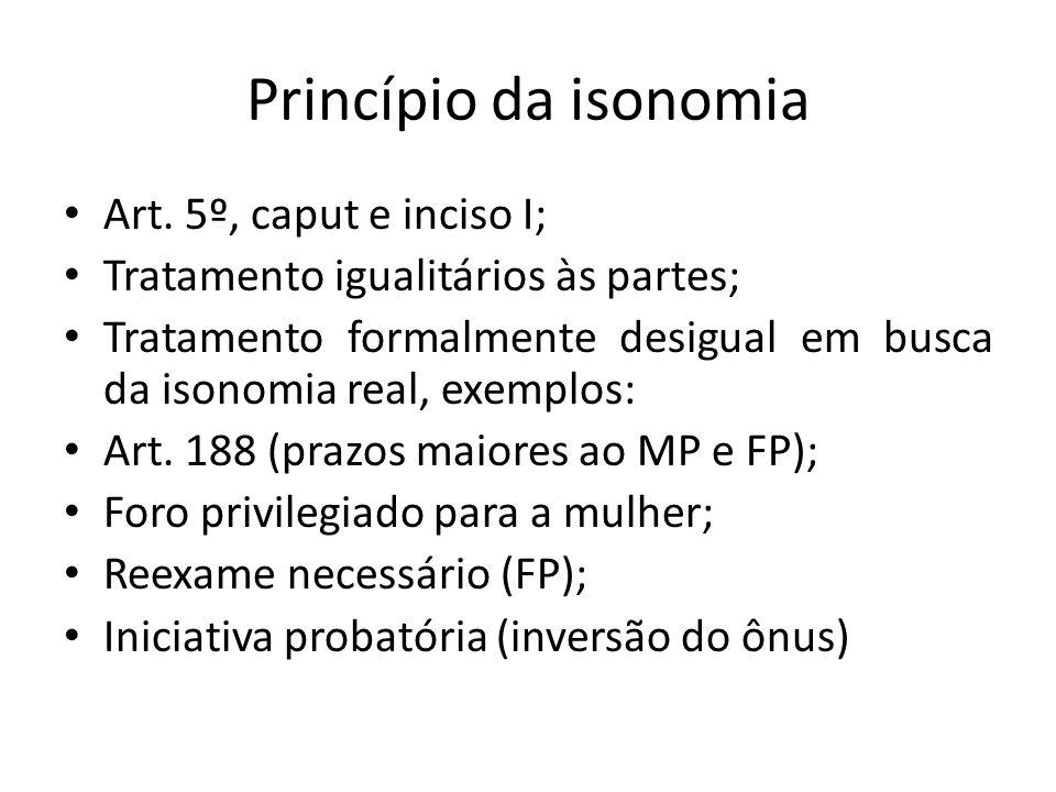 Princípio da isonomia Art.