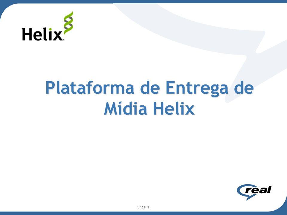 Slide 2 Helix: Soluções e Ecosistema O Helix possui recursos que vão desde a geração de conteúdo (encoder) até a reprodução do conteúdo com a melhor qualidade para o usuário (entrega para o device especifico com banda especifica).