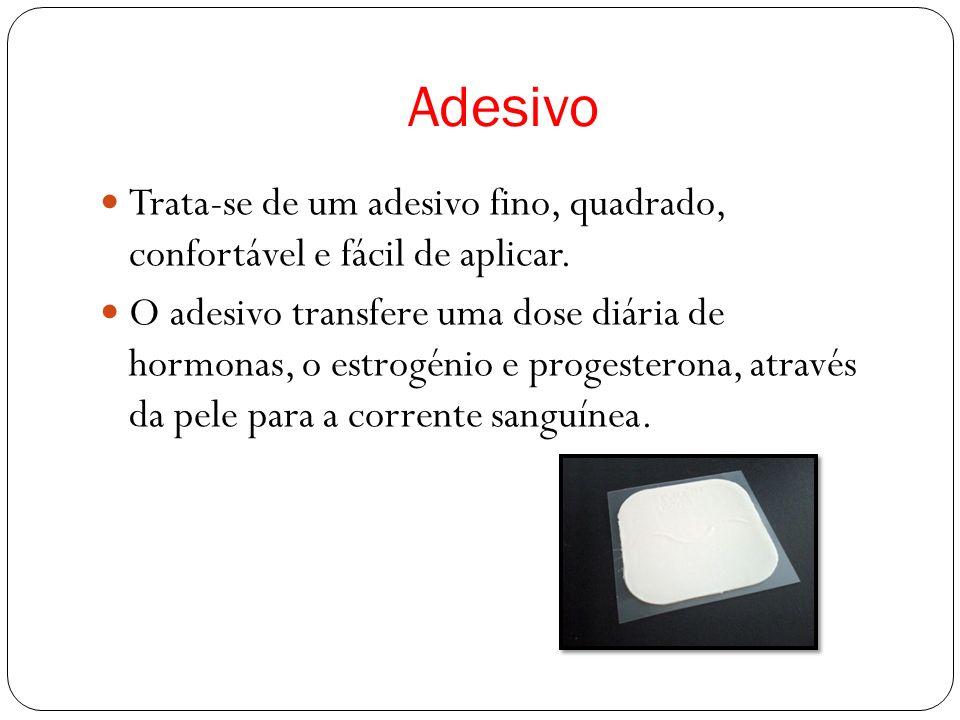 O adesivo funciona de duas formas: - Impede a ovulação (libertação do óvulo) - Torna mais espesso o muco do colo do útero, dificultando a entrada dos espermatozoides no útero.
