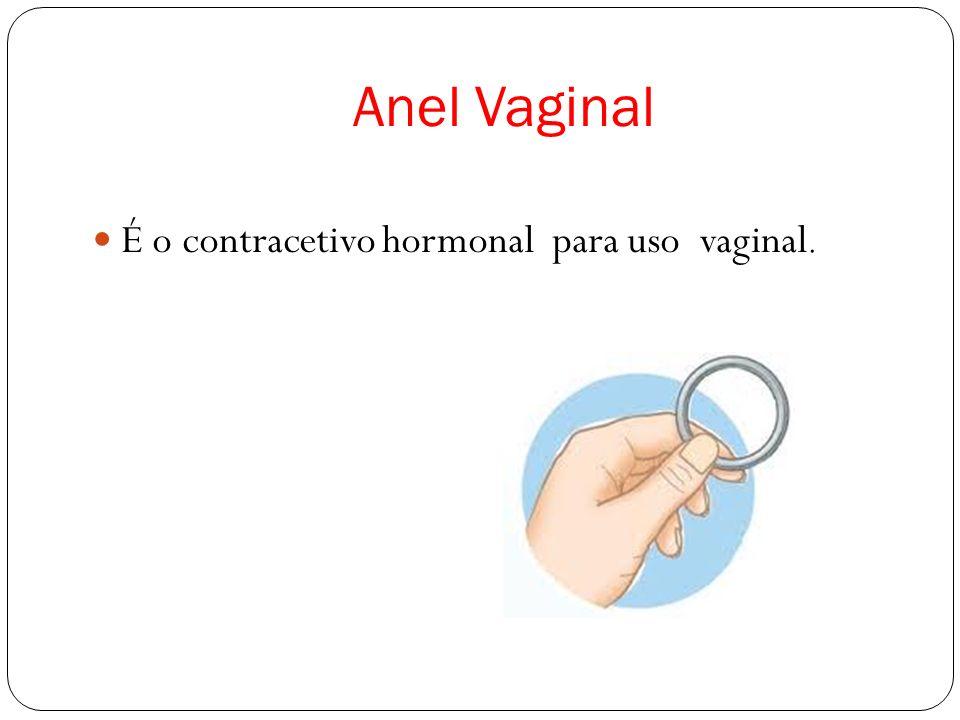 Como é que é constituído o anel vaginal.