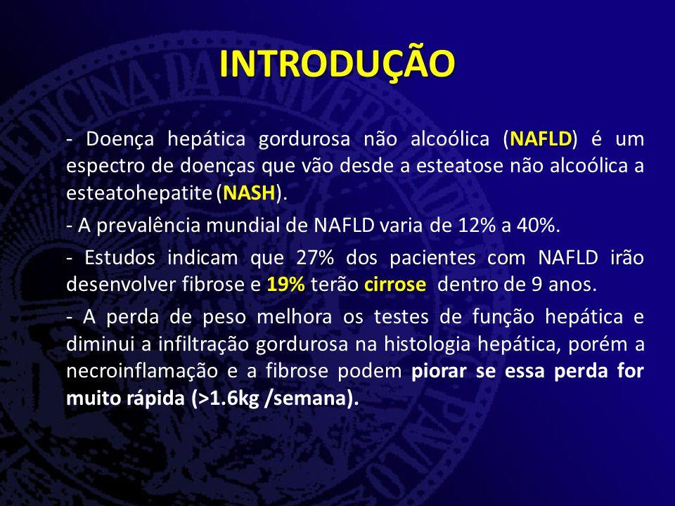 NAFLD - Doença hepática gordurosa não alcoólica (NAFLD) é um espectro de doenças que vão desde a esteatose não alcoólica a esteatohepatite (NASH).