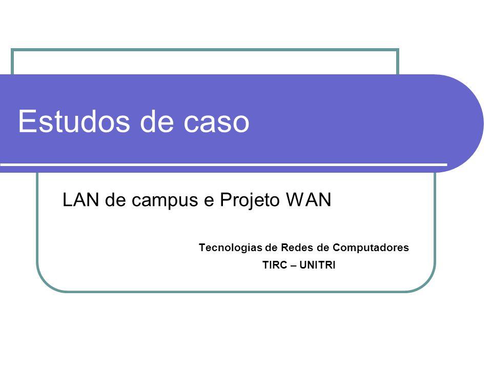 Estudos de caso LAN de campus e Projeto WAN Tecnologias de Redes de Computadores TIRC – UNITRI