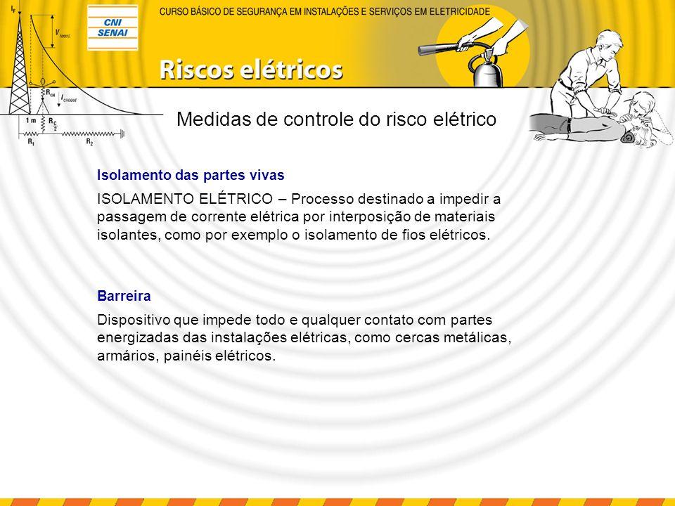 ISOLAMENTO ELÉTRICO – Processo destinado a impedir a passagem de corrente elétrica por interposição de materiais isolantes, como por exemplo o isolame