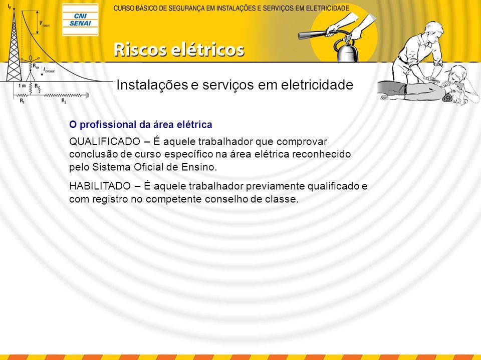Instalações e serviços em eletricidade QUALIFICADO – É aquele trabalhador que comprovar conclusão de curso específico na área elétrica reconhecido pel