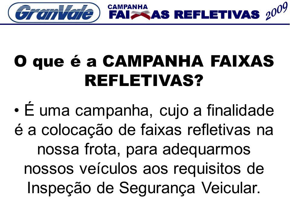 CAMPANHA A CAMPANHA FAIXAS REFLETIVAS SE DIVIDE EM DUAS PARTES.