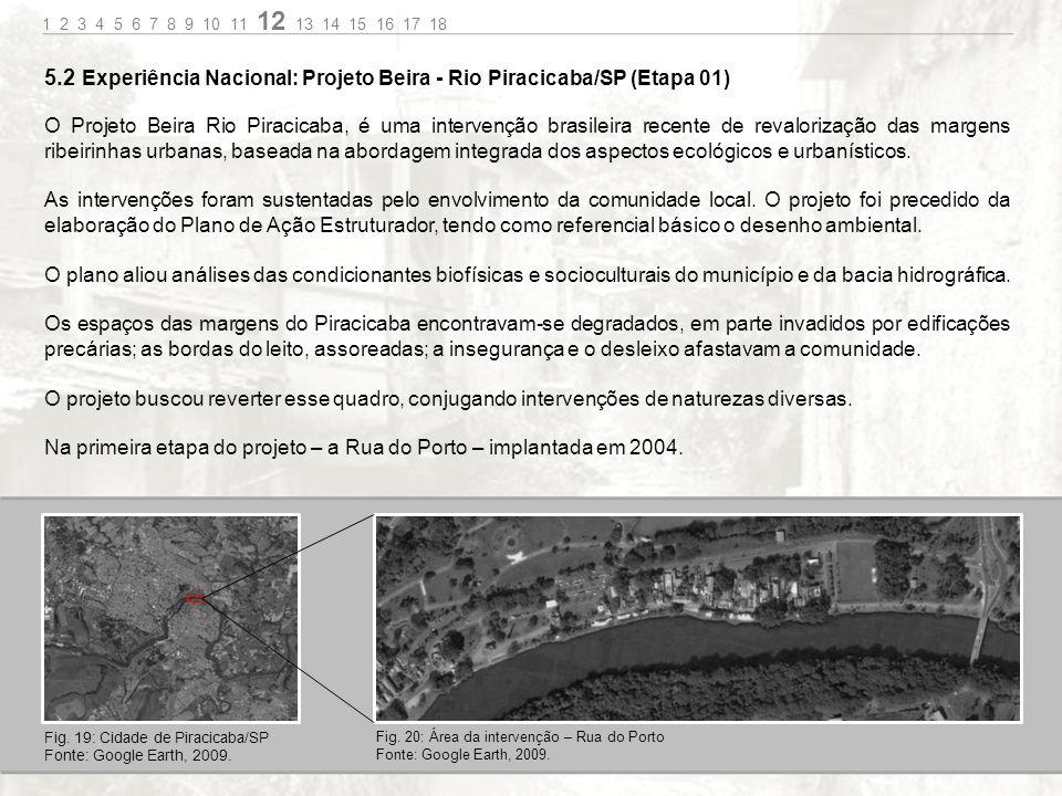O Projeto Beira Rio Piracicaba, é uma intervenção brasileira recente de revalorização das margens ribeirinhas urbanas, baseada na abordagem integrada dos aspectos ecológicos e urbanísticos.