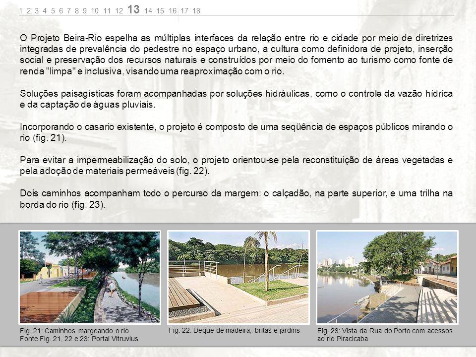 O Projeto Beira-Rio espelha as múltiplas interfaces da relação entre rio e cidade por meio de diretrizes integradas de prevalência do pedestre no espaço urbano, a cultura como definidora de projeto, inserção social e preservação dos recursos naturais e construídos por meio do fomento ao turismo como fonte de renda limpa e inclusiva, visando uma reaproximação com o rio.