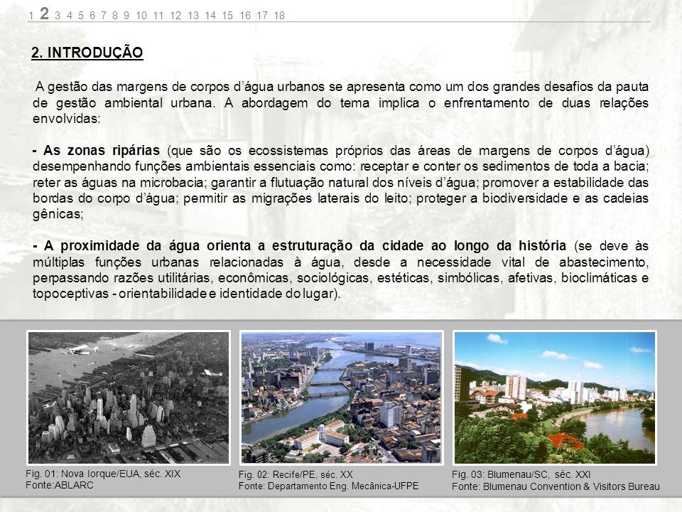 A gestão das margens de corpos dágua urbanos se apresenta como um dos grandes desafios da pauta de gestão ambiental urbana.