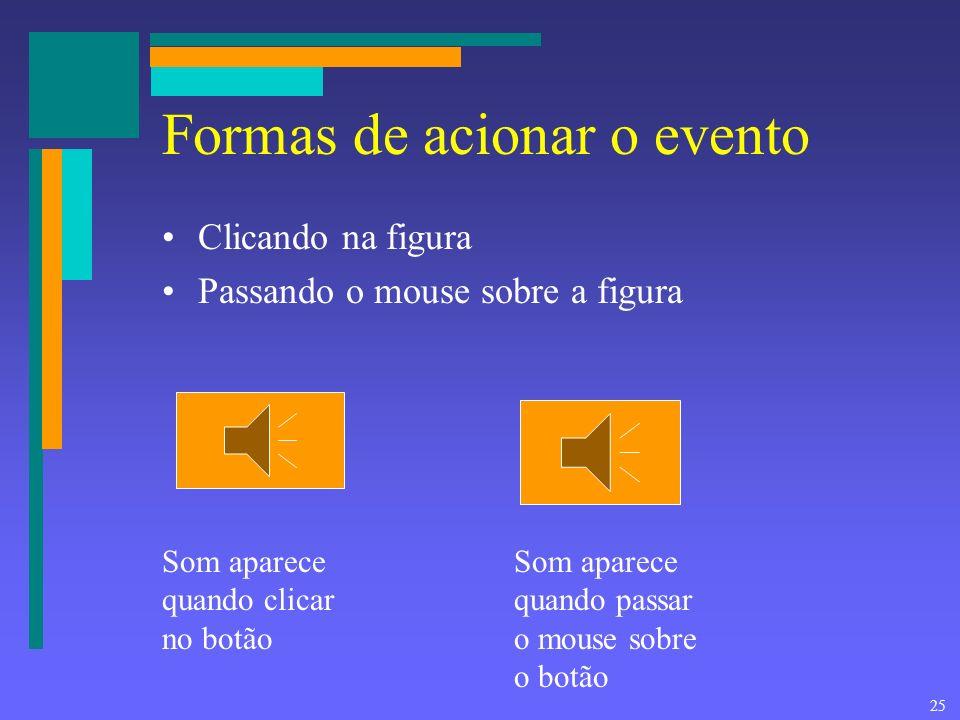 24 Associando uma macro a um botão Clicando no desenho recem criado com o botão direito do mouse surge o menu para escolher a macro a ser associada